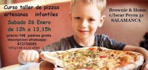 Taller infantil de masa de pizza en Brownie & Home