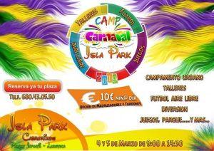 Campamento urbano de carnaval en Isla Park
