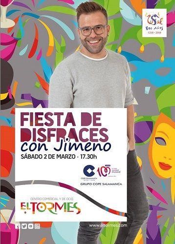 Fiesta de disfraces con Jimeno de Cadena 100 en el C.C. El Tormes