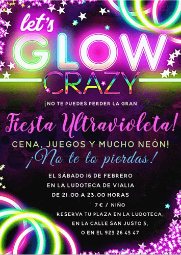 Fiesta ultravioleta infantil en Vialia Salamanca