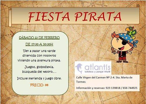 Fiesta pirata en la ludoteca Atlantis