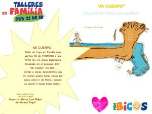 Taller familiar de yoga en Bicos