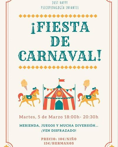 Fiesta de carnval en Just Happy