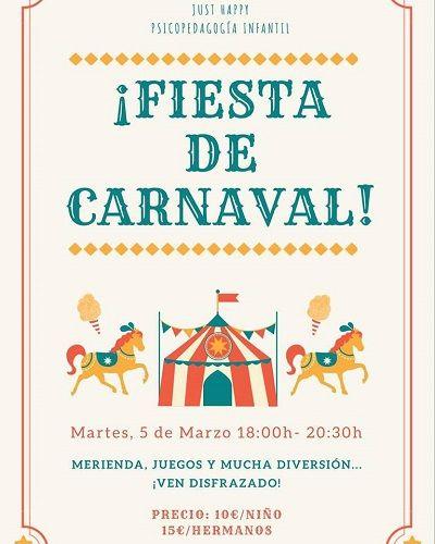 Fiesta de carnval en Just Happy