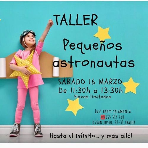Taller infantil para pequeños astronautas en Just Happy Salamanca