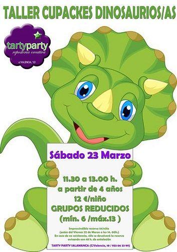Taller infantil de cupcakes de dinosaurios en Tarty Party
