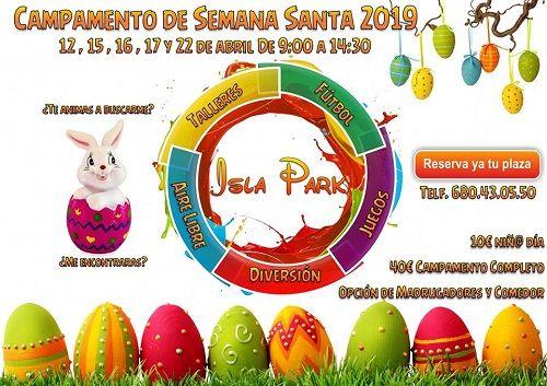 Campamento de Semana Santa en Isla Park de Cabrerizos