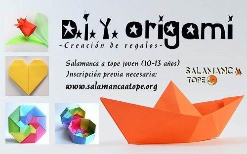 Taller de regalos con origami en Satope Joven