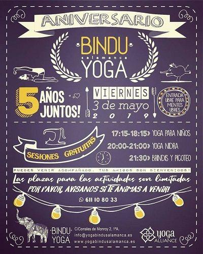 Aniversario de Yoga Bindu Salamanca