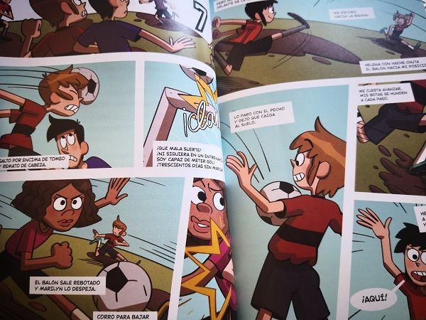 Ilustraciones en forma de cómic en Los Futbolísimos