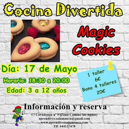 Magic Cookies en el taller de cocina divertida de Aprendiver