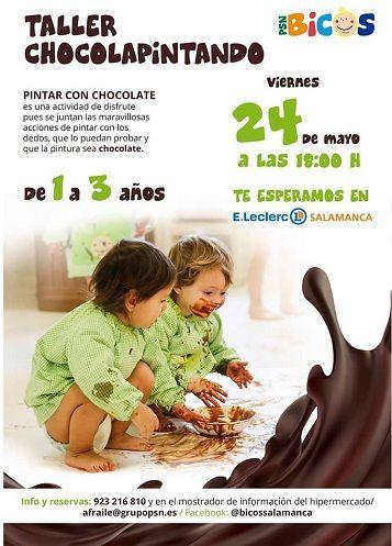Taller Chocolapintando en E.Leclerc