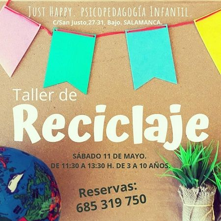 Taller de reciclaje en Just Happy