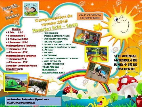 Campamento en el Centro Infantil Cabrerizos