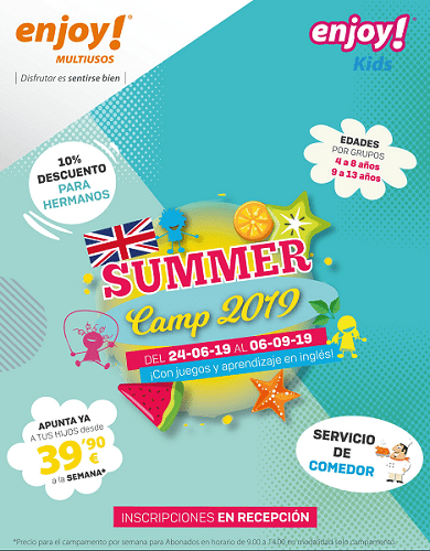 Summer Camp 2019 en Enjoy! Multiusos