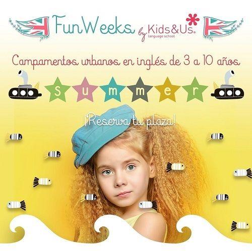"""""""Summer Fun Weeks"""", campamento urbano en inglés de Kids&Us"""