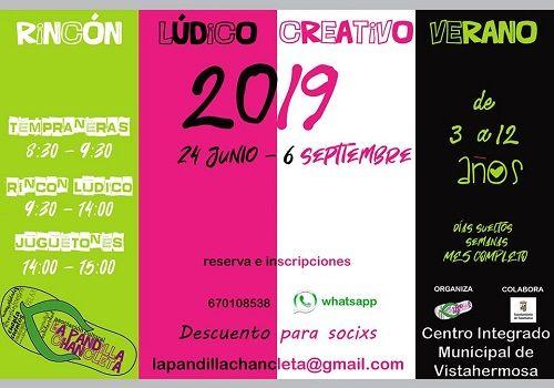 Rincón Lúdico Creativo de verano de La Pandilla Chancleta