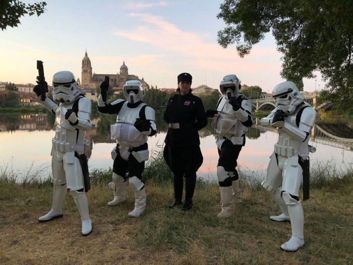 Algunos miembros de la Legión 501 en Salamanca