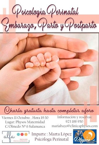 Charla gratuita en Physos Maternidad sobre psicología perinatal