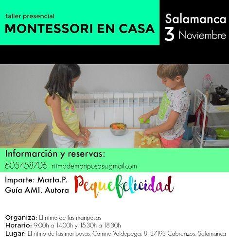 """Curso intensivo y presencial """"Montessori en casa"""" con Marta Prada de Pequefelicidad"""