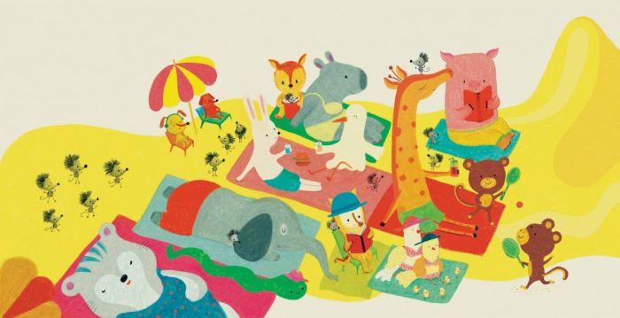 "Natalia Colombo ilustra a todo color al verano de ""Ratones de viaje"", editado por Kalandraka"