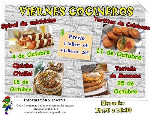 Tortitas de calabaza en el taller «Viernes cocineros» de Aprendiver