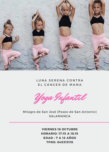 Sesión de yoga infantil solidario en Luna Serena