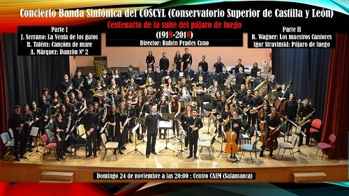 Concierto de la Banda Sinfónica del COSCYL- Conservatorio Superior de Castilla y León