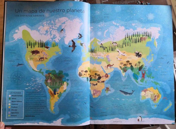 Un mapa de nuestro planeta