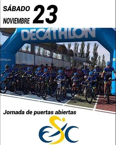 Jornada de puertas abiertas de la Escuela de Ciclismo Salmantina en Decathlon