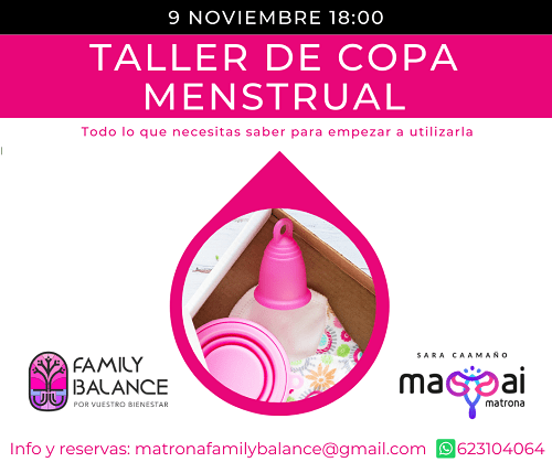 Taller de copa menstrual en Family Balance