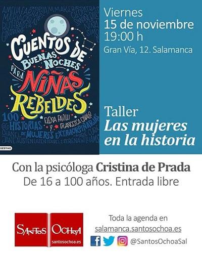 "Charla-taller ""Las mujeres en la historia"", con la psicóloga Cristina de Prada"