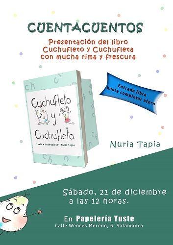 """Presentación del libro """"Cuchufleto y Cuchufleta"""" y cuentacuentos en la librería Yuste"""