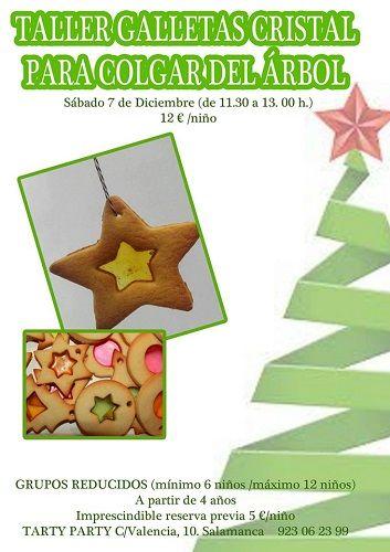 Taller infantil de galletas cristal para colgar en el árbol