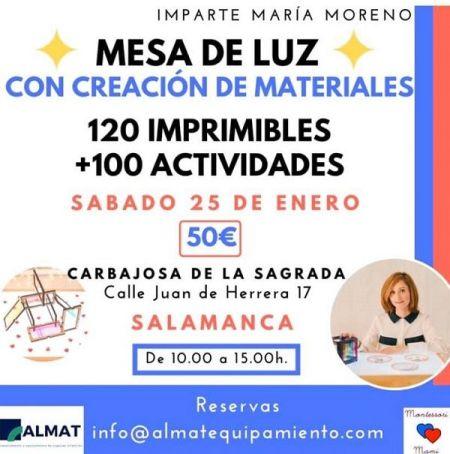 María Moreno ofrece un taller para profesionales sobre la mesa de luz