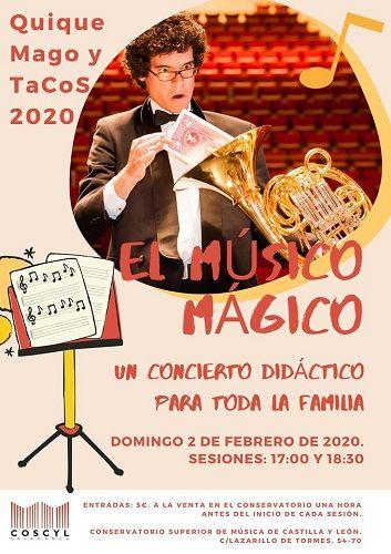 """Concierto didáctico """"El músico mágico"""" en el Conservatorio Superior"""