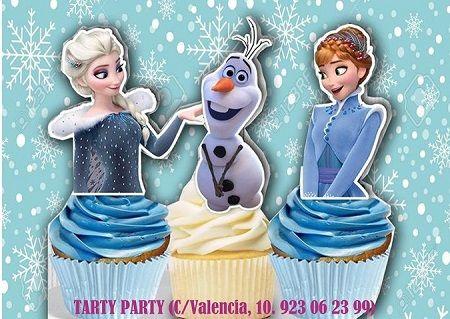 Taller de cupcakes de Frozen en Tarty Party