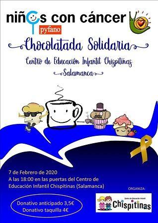 Chocolatada solidaria a favor de Pyfano en Chispitinas