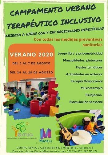 Campamento urbano terapéutico inclusivo en Centro Esnia