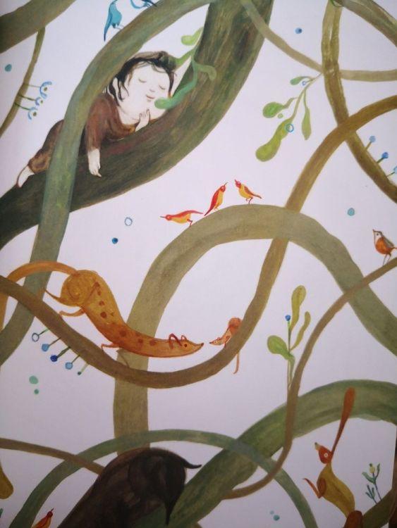 Ilustraciones de Maite Mutuberria que nos hacen viajar entre árboles y descubrir a quienes habitan en el bosque
