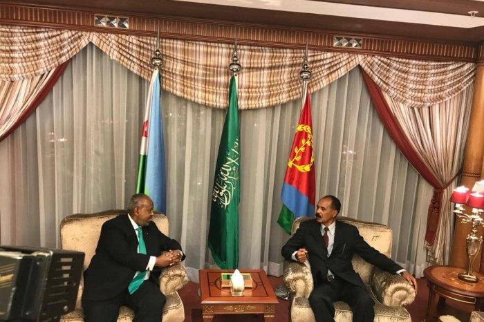Madaxweyneyaasha dalalka Jabuuti iyo Eritrea oo ku kulmay Jeddah