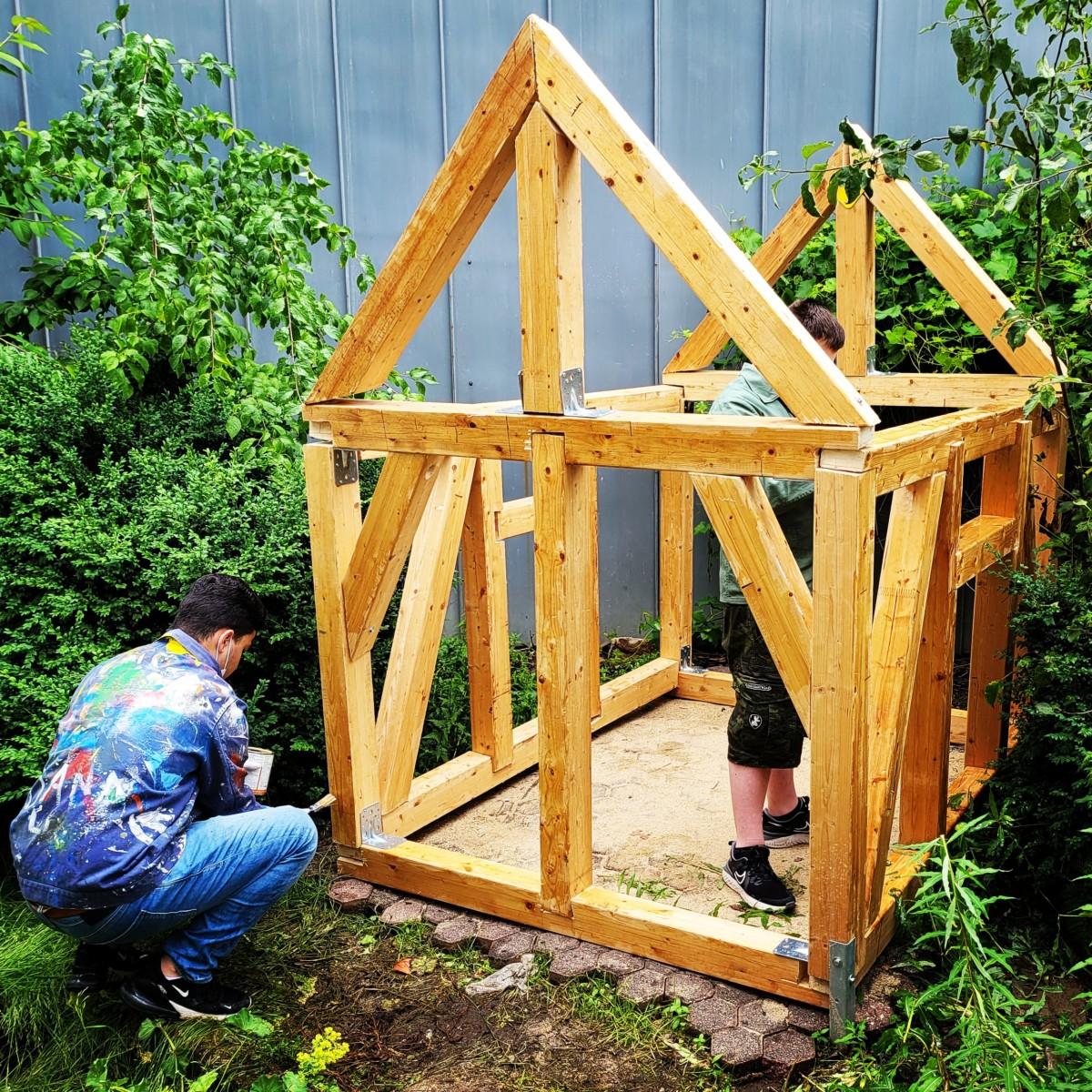 Ein Fachwerkhaus im Projektunterricht bauen. 1
