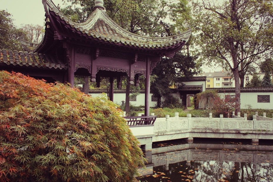Schule als chinesischer Garten. 1