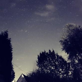 Nachthimmel und Sterne, Sternschnuppe, Perseiden