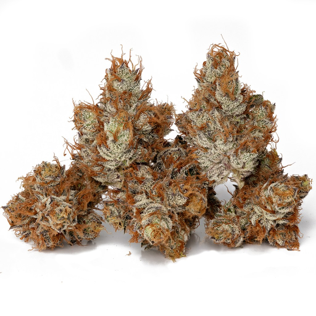 Compound Genetics Strawberry apricot cannabis flower cultivated by Halcyon Farms