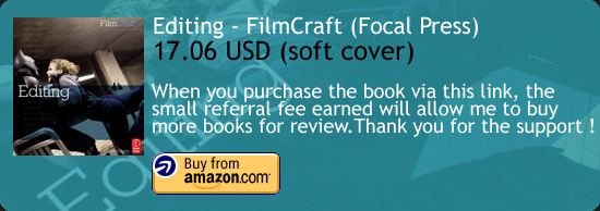 Editing – FilmCraft Series Book Focal Press Amazon Buy Link