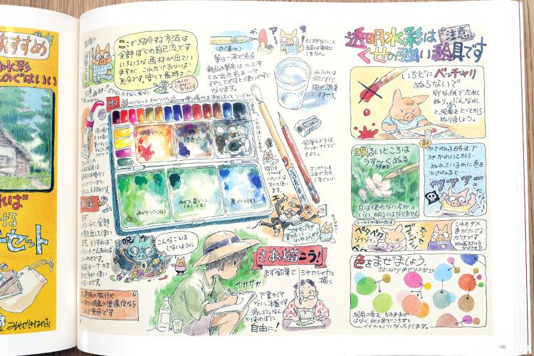 Hayao Miyazaki And The Ghibli Museum Art Book Review Part II 宮崎駿とジブリ美術館 宮崎駿監督がジブリ美術館のために描いたイラストをオールカラーで900点以上収録した豪華な2冊セット