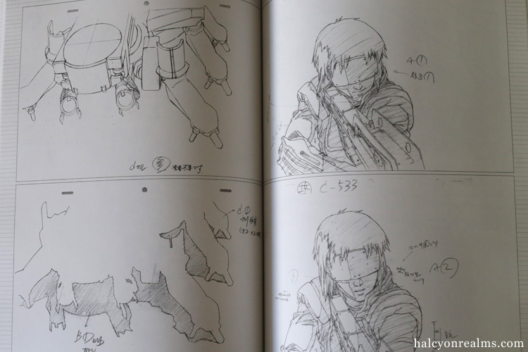 Ghost In The Shell Genga Collection Art Book