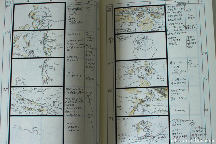 Howl's Moving Castle Storyboard Book