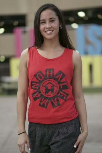 Red tank top - full circle design
